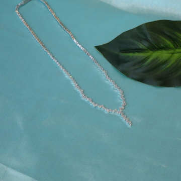 92.5 Sterling Silver Cz Swarocski Necklace For Women