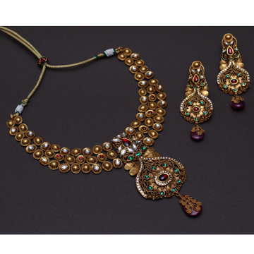 916 Gold Wedding Necklace Set VJ-N002