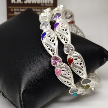 Silver ladies bangles rh-bl674