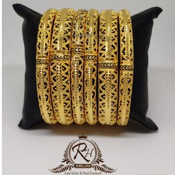 22 carat gold ladies designer bangle set RH-BK986