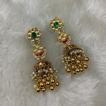 Designer Artificial Jumkha Earrings by
