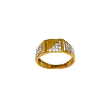 22K Gold Matte finish Designer Ring MGA - GRG0239