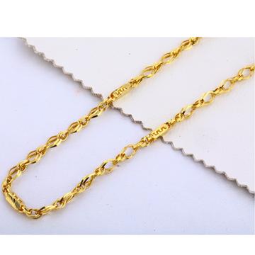 22KT Gold Plain Fancy Men's Choco Chain MCH310