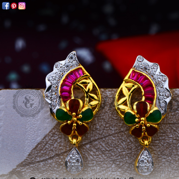 916 gold earrings sge-0038