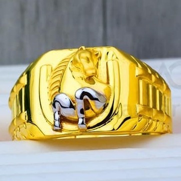 22 Kt 916 Gold Gents Ring by