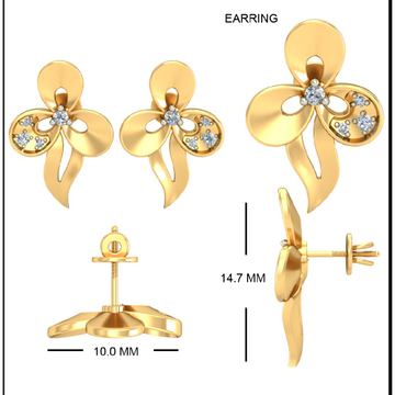 22Kt Yellow Gold Belinha Earrings For Women