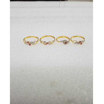 916 Gold Fancy CZ Design Ladies Ring