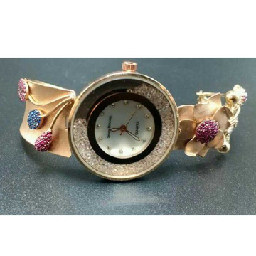 18k Ladies Fancy Rose Gold Watch G-2705