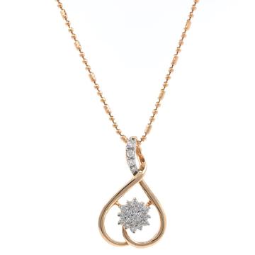 Delicada Flower Pendant हिरे in 18k Rose Gold 9SHP9