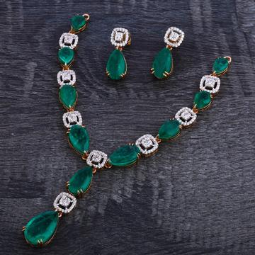 750 Rose Gold Fancy Necklace Set RN119