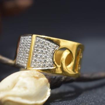 22KT Gold CZ Fancy Gents Ring MK-R19  by