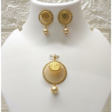 18k Gold Coin Pendant Set by