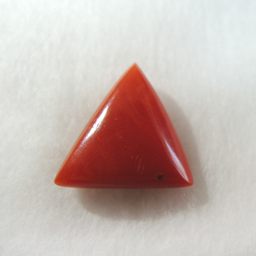 3.83ct triangle natural red-coral (mungaa) KBG-C019