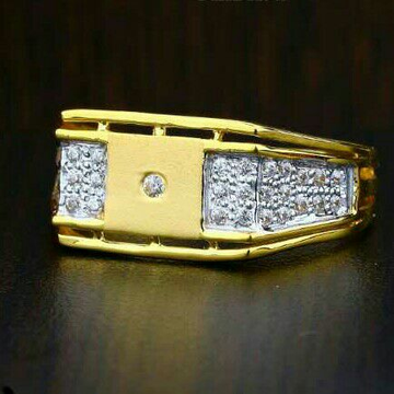 22ct Cz Gold Gents Ring