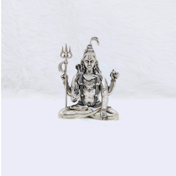 Real silver shiv ji idol in high antique finishing...