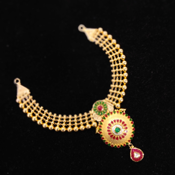 22kt Gold Antique Colorful Necklace Set