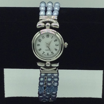 Freshwater Blue Oval Pearls 3 Layers Watch JBG0241