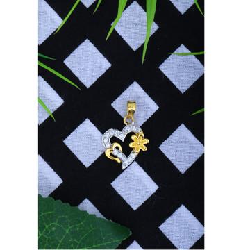 22KT Gold CZ Designer Heart Shape Pendant JJ - P025