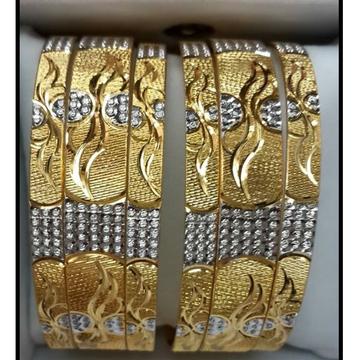 916 GOLD LUXOR GOLD BANGLE SET BL0018