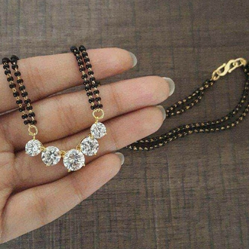 18 KT fancy Solitaire mangalsutra for ladies MSG10... by