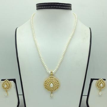 Pearls PendentSet With 1Line FlatPearls Mala JP...