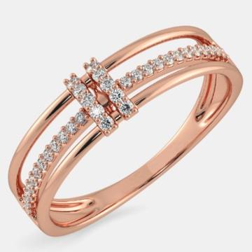 22kt gold and single line of diamond ring for women jkr011