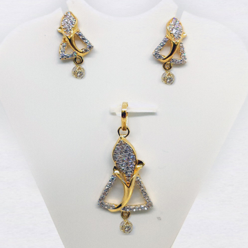 22KT Gold CZ Pendant Set SK-PS003 by