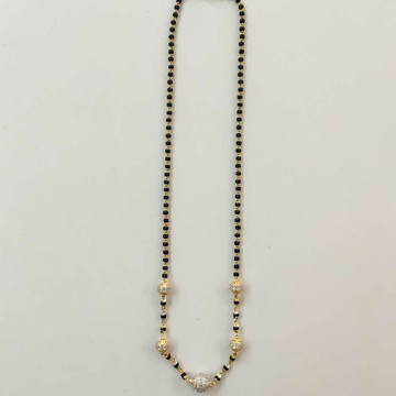 22k Gold Cz Ball Single Line Mangalsutra DVJ-023 by Deepvimal Jewellers
