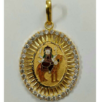 22K / 916 Gold Gents Yellow Designer Pendant