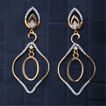 916 CZ Gold Hallmark Classic Design Earring