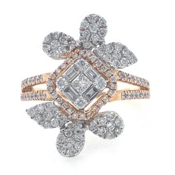 18kt / 750 rose gold evening wear designer diamond...