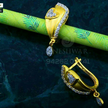 Attractive Gold Cz Bali Abg - 0079