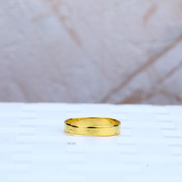 Plain Gold Cz Kids Ring-KR58