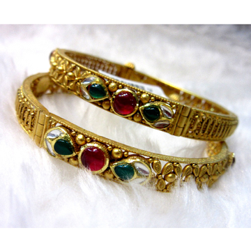 Gold antique modern jadtar women bangles