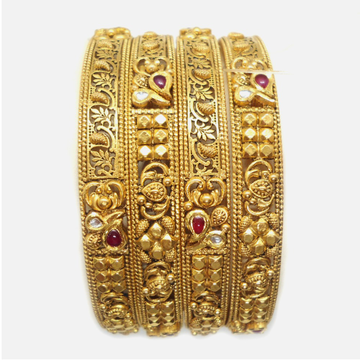 22K Gold Antique Bridal Bangle RHJ-4904
