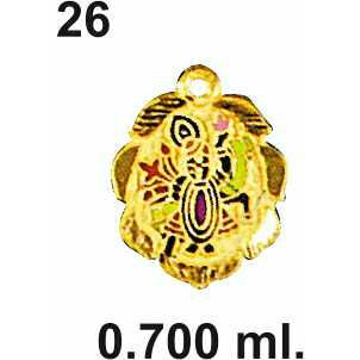 916 Gold Shreenathji Pendant DC-P026