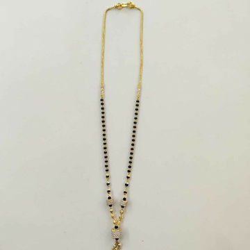 22k Gold Designer Single Line Mangalsutra DVJ-020