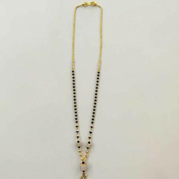 22k Gold Designer Single Line Mangalsutra DVJ-020 by Deepvimal Jewellers
