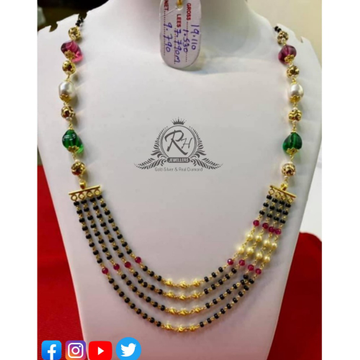 22 carat gold traditional ladies mangalsutra RH-MN566