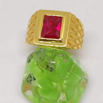 916 Gold Rubi Gents Ring RH-GR025