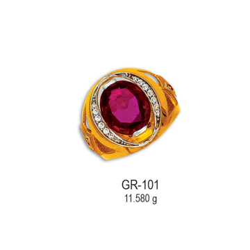 CZ-Gold-Gents-Ring-GR-101