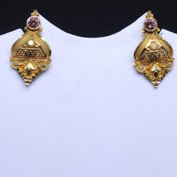 22KT / 916 Gold Delicate Plain Earrings for ladies BTG0009
