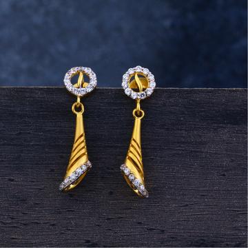 Ladies 22K Gold Jummar Antique Earrings -LJE120
