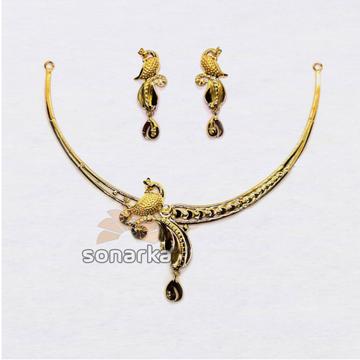 22k-Lightweight-Peacock-Design-Gold-Necklace
