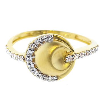 916 CZ gold Fancy Ring For Women SO-R008