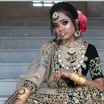 gold plated pachhi kundan rani har with choker nac...