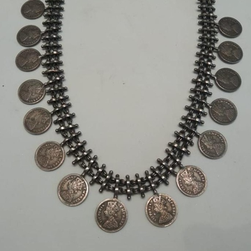 Silver Trendy Ethnic necklace Set  by