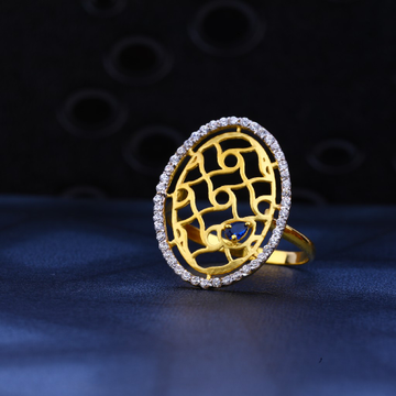 22kt Gold Cz Exclusive Ring LR25