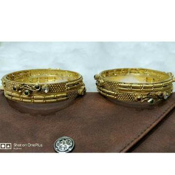 22K/916 Gold Antique Jadtar Ladies Bangle