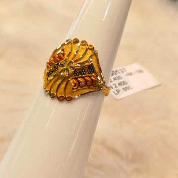 22KT Gold Kalkatti Design Ring by Panna Jewellers